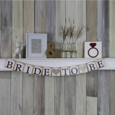 Bride to Be Marsala Wedding Banner