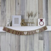 Bride To Be Marsala and Champagne wedding banner