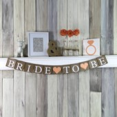Bride to Be Peach Wedding Banner