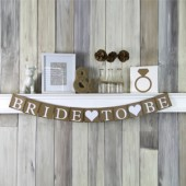 Bride to Be Rustic White Wedding Banner