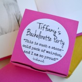 Bridesmaid Movie Quote Bachelorette Party Favor Box