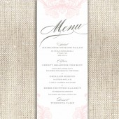 Romantic Flourishes Menu Card