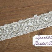 Bailey Bridal Sash - SparkleSM Bridal Sashes