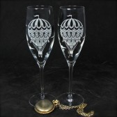 Hot Air Balloon Champagne Flutes, Travel Inspired Wedding