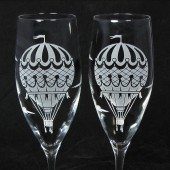Vintage Balloon Champagne Glasses