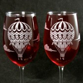 Hot Air Balloon Wine Glasses