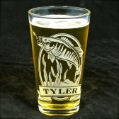 Personalized Bass Pint Glass, Groomsmen Gifts