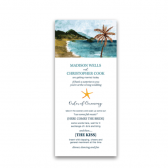 Seashore inspired custom wedding programs that are both ethereal and absolutely gorgeous. We are simply head over heels for the tones of the watercolors! In addition, the causal and lightheartedness of your event is captured making this program simply perfect.