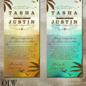 Tropical Beach Wedding Programs