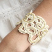 Golden Lace Beaded Bracelet