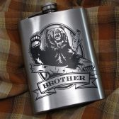 Personalized Grizzly Bear Flask