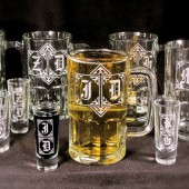 Beer Mug Shot Glass Duo, monogrammed gifts for groomsmen