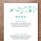 Beetle Printable Wedding Menu