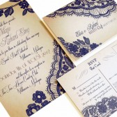 Elegant Lace Invitation sets