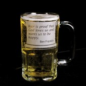 Ben Franklin Beer Mug Quote, Groomsman Gift