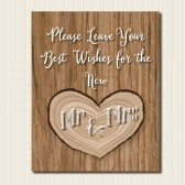 Rustic Best Wishes Guest Book Sign
