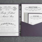 This unique pocket card wedding invitation is perfect for a classic, elegant and modern wedding. It is a perfect blend of modern and vintage and definitely different from any invitation your friends are sending out.