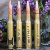 Best Man and Groom 50 Caliber Bottle Openers
