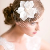 bridal hair accessory, magnolia, magnolia, flower, fascinator, wedding hair, flower for hair
