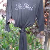 Black Bridal Robe