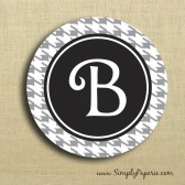 Houndstooth Personalized Sticker