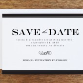 Save the Date Template - Black Stripe