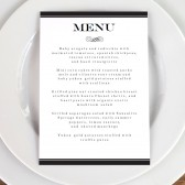 Wedding Menu Template - Black Stripe