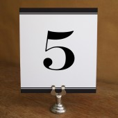 Printable Table Number - Black Stripe