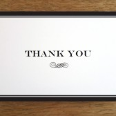 Thank You Card Template - Black Stripe