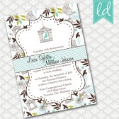 Blue Bird Cage Wedding Invitation
