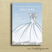 Elegant Gown Shower Invitation