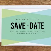 Save the Date Template - Blue Green Geometric