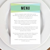 Wedding Menu Template - Blue Green Geometric