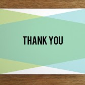Thank You Card Template - Blue Green Geometric