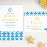 Modern Sea Nautical Wedding Invitation Set
