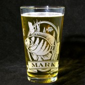 Personalized Bluegill Pint Glass, Groomsmen Gifts