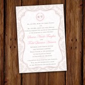 Blush Damask Wedding Invitation