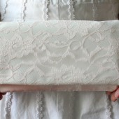 Blush Lace Clutch