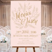 Blush Pink and Gold Wedding Signs, Woodland Enchanted Forest Wedding Signs, Wedding Welcome Signs, Table Numbers, Seating Chart, Place Cards, Menu, DIY Wedding Signs by Soumya\'s Invitations