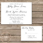 Rustic Calligraphy Wedding Invitation Suite