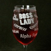 Boss lady wine glass for mom