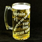 Boss Man Beer Stein, Gift for husband, dad