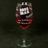 Boss Man Wine Glass for Dad