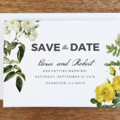 Printable Save The Date - Botanical