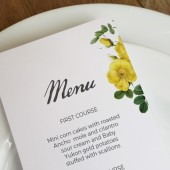 Wedding Menu Template - Botanical