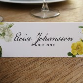 Place Card Template - Botanical