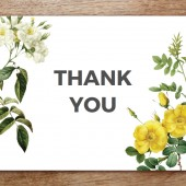 Thank You Card Template - Botanical