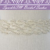 Rose Wedding Dress Sash