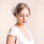 birdcage, flower, silk, veil, birdcage veil, bridal birdcage veil, fascinator, silk flower, flower for hair, hair accessory