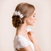 bridal, flower, pins, hair pins, wedding hair pin, chiffon, hairpiece, headpiece, flower, pearl
